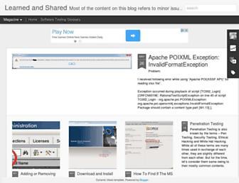 bugfinding.blogspot.com screenshot