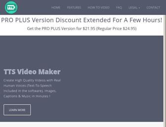 Thumbshot of Ttsvideomaker.com