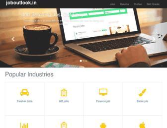 joboutlook.in screenshot