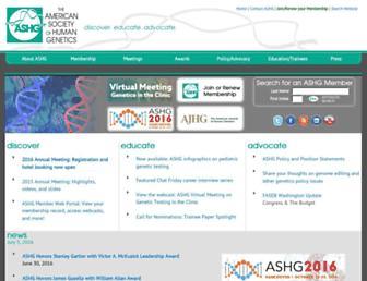 Thumbshot of Ashg.org