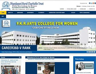 pkrarts.org screenshot