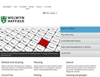 welhat.gov.uk screenshot