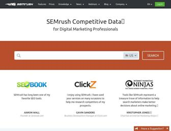 semrush.com screenshot