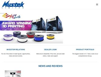mustek.co.za screenshot