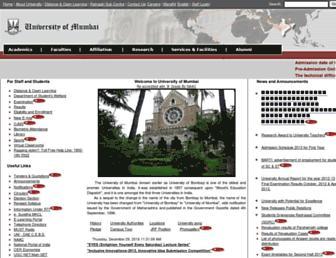 results.mu.ac.in screenshot