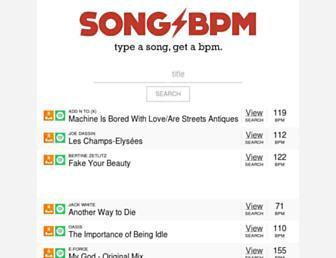 Thumbshot of Songbpm.com