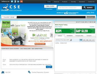 Main page screenshot of cse.lk