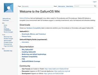 wiki.galliumos.org screenshot