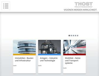 Main page screenshot of thost.de
