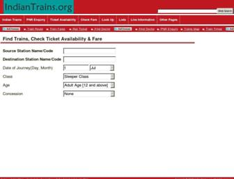Thumbshot of Indiantrains.org