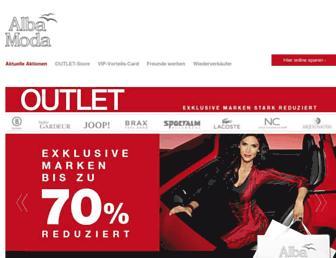 Main page screenshot of albamoda-shop.de