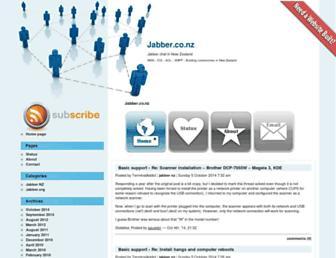 Main page screenshot of jabber.co.nz