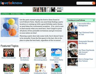 party.lovetoknow.com screenshot