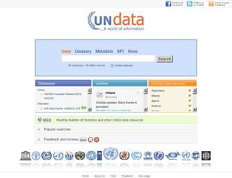 data.un.org screenshot