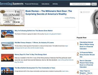 investinganswers.com screenshot