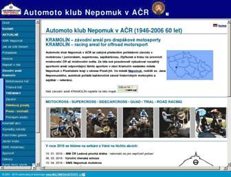 Main page screenshot of amk.nepomuk.cz