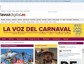carnaval.lavozdigital.es screenshot
