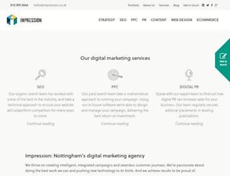 impression.co.uk screenshot