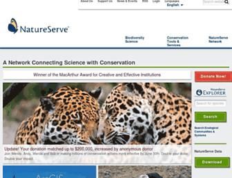 Main page screenshot of natureserve.org