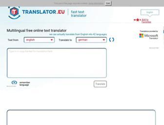 translator.eu screenshot