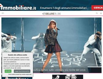 Main page screenshot of deluxeblog.it