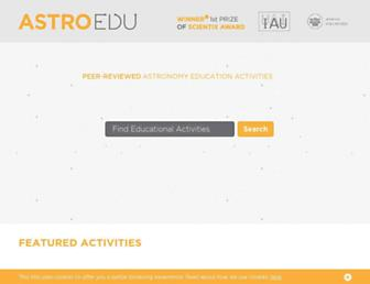 astroedu.iau.org screenshot