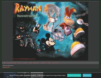 Main page screenshot of raymanfangame.pun.pl