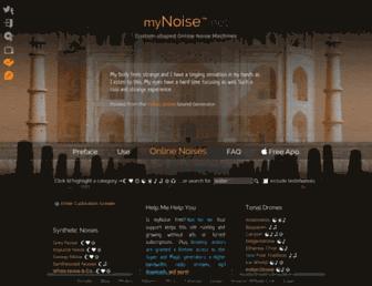 Thumbshot of Mynoise.net