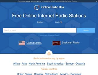 onlineradiobox.com screenshot