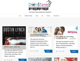 chordzone.org screenshot