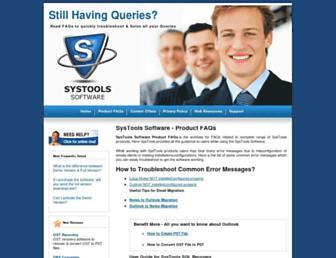 systoolsfaqs.com screenshot