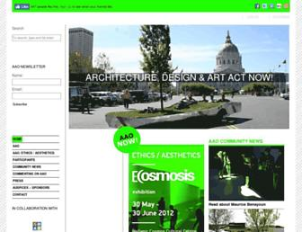 Main page screenshot of aaoproject.org