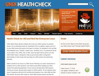 unixhealthcheck.com screenshot