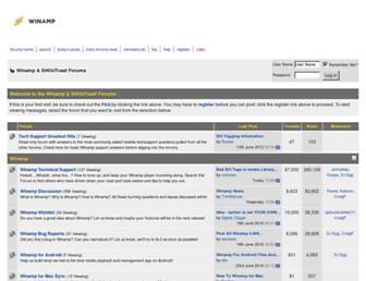 forums.winamp.com screenshot