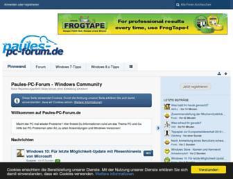 Main page screenshot of paules-pc-forum.de