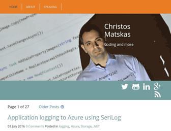 cmatskas.com screenshot