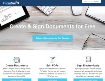 formswift.com screenshot