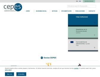Main page screenshot of cepes.es