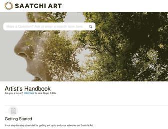 support.saatchiart.com screenshot