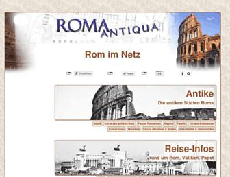 Main page screenshot of roma-antiqua.de