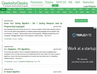 geeksforgeeks.org screenshot