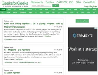 Thumbshot of Geeksforgeeks.org