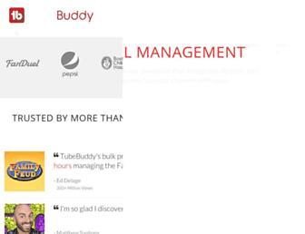 tubebuddy.com screenshot