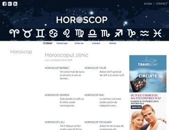 Main page screenshot of horoscop.ro