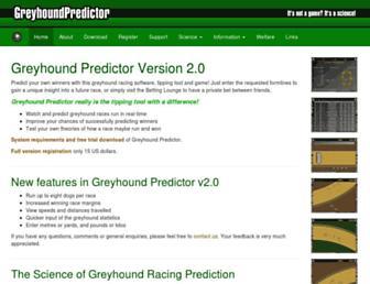 greyhoundpredictor.com screenshot