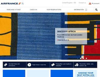 Main page screenshot of airfrance.co.uk