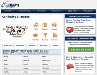 car-buying-strategies.com screenshot