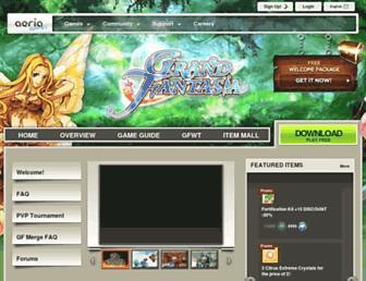 grandfantasia.aeriagames.com screenshot