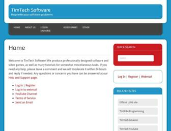 timtechsoftware.com screenshot