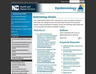 epi.publichealth.nc.gov screenshot